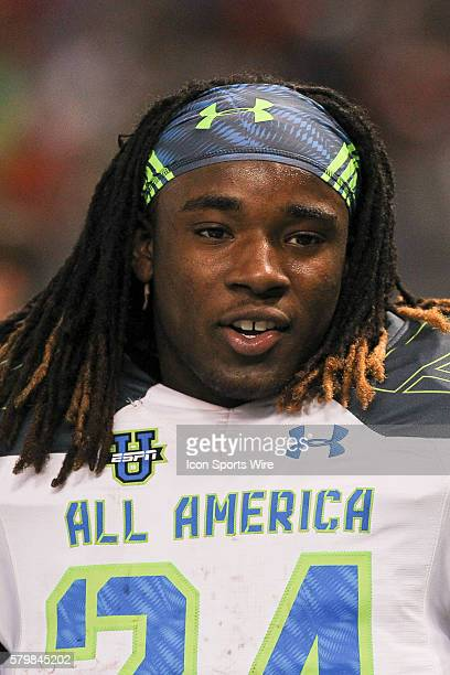 Team Highlight running back Ronald Jones II during the 2015 Under Armour AllAmerica Game at Tropicana Field in St Petersburg Florida