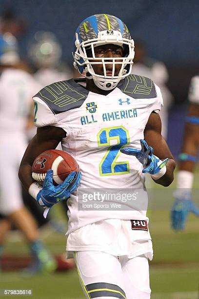 Team Highlight wide receiver Calvin Ridley during the 2015 Under Armour AllAmerica Game at Tropicana Field in St Petersburg Florida