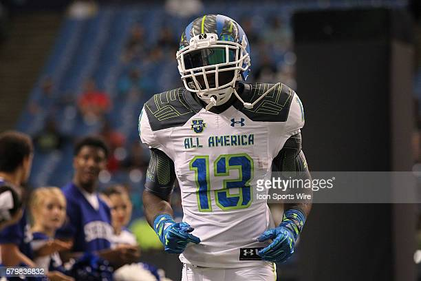 Team Highlight wide receiver Daylon Charlot during the 2015 Under Armour AllAmerica Game at Tropicana Field in St Petersburg Florida