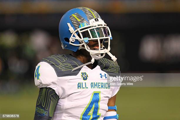 Team Highlight wide receiver Terry Godwin during the 2015 Under Armour AllAmerica Game at Tropicana Field in St Petersburg Florida