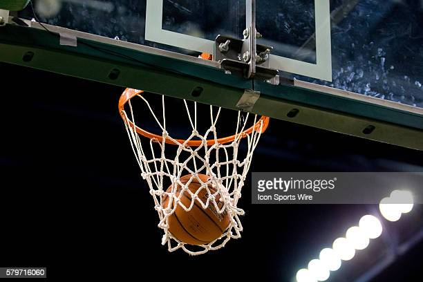A Cleveland State shot falls thru the hoop for a basket to beat the horn to end the first quarter of the NCAA Women's Basketball game between the...