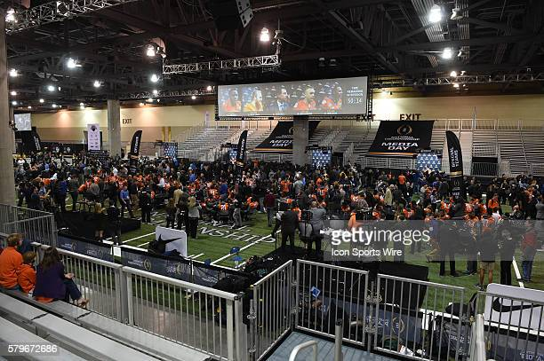A general view of the crowd during the Clemson portion of the College Football Playoff National Championship Media Day at the Phoenix Convention...