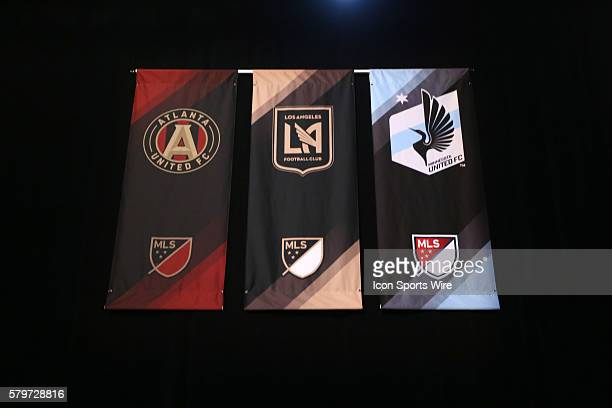 Banners for the three confirmed future MLS expansion teams From left Atlanta United FC Los Angeles Football Club and Minnesota United The 2016 MLS...