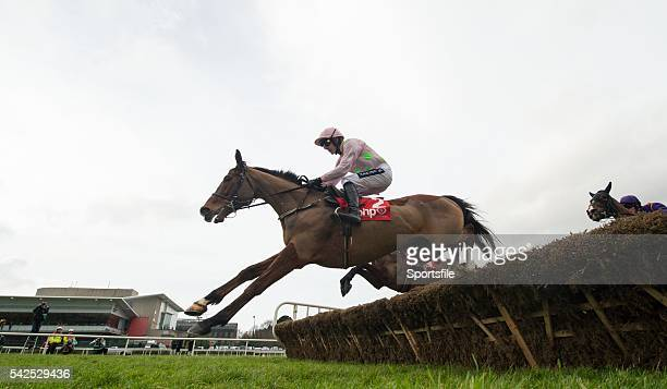 24 January 2016 Faugheen with Ruby Walsh up clears the last first time round ahead of eventual second Arctic Fire right with Danny Mullins up on...