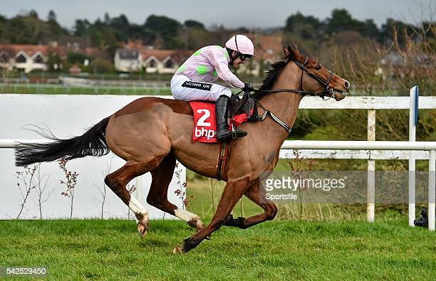 24 January 2016 Faugheen with Ruby Walsh up race clear of the last on their way to winning the BHP Insurances Irish Champion Hurdle Leopardstown...