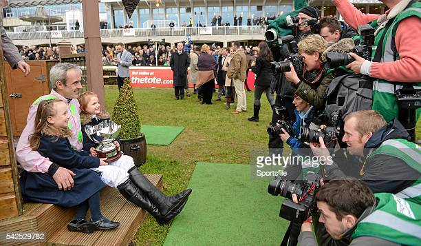 24 January 2016 Jockey Ruby Walsh and his daughters Isabella left and Elsa are phortographed after winning the BHP Insurances Irish Champion Hurdle...