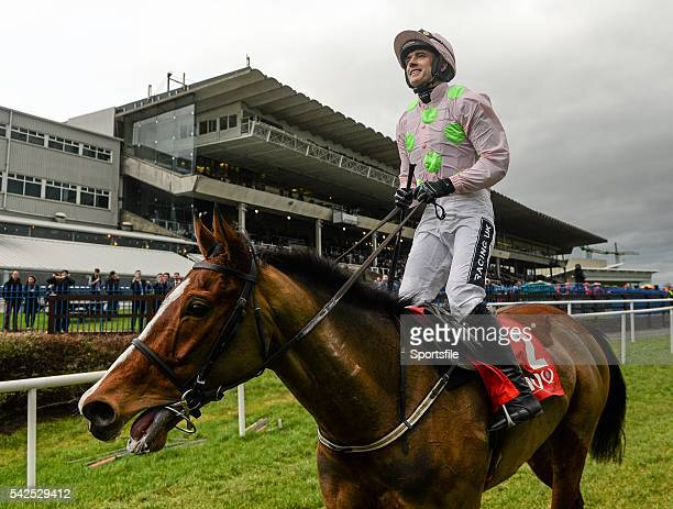 24 January 2016 Jockey Ruby Walsh celebrates on Faugheen after winning the BHP Insurances Irish Champion Hurdle Leopardstown Racecourse Leopardstown...