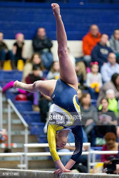 Kennedy Plude of Kent State competes on the Balance Beam during the meet between the Temple Owls and Kent State Golden Flashes Kent State defeated...