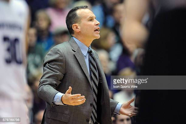 Northwestern Wildcats head coach Chris Collins in action during a game between the Michigan State Spartans and Northwestern Wildcats at the WelshRyan...