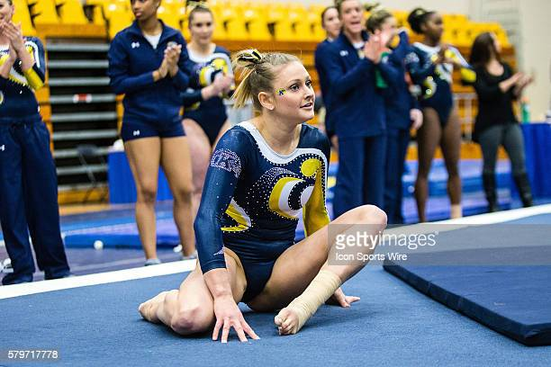 Rachel Stypinski of Kent State competes in the Floor Exercise during the meet between the Temple Owls and Kent State Golden Flashes Kent State...