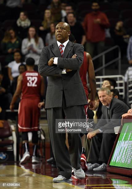 Washington State head coach Ernie Kent during an NCAA basketball game between the Washington State Cougars and the USC Trojans at Galen Center in Los...