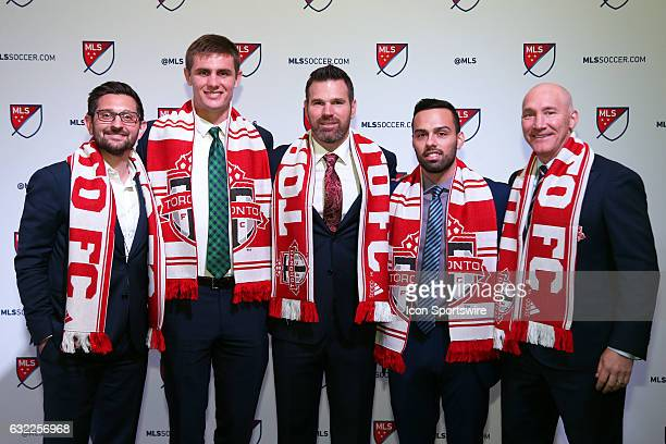 Brandon Aubrey was selected overall by Toronto FC. With general manager Tim Bezbatchenko, head coach Gregg Berhalter, home grown player Sergio...