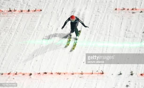 Nordic skiing / ski jumping World Cup Four Hills Tournament Großschanze Men Final Markus Eisenbichler from Germany in action Photo Daniel Karmann/dpa