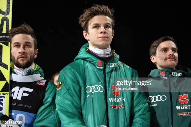Nordic skiing / ski jumping World Cup Four Hills Tournament Großschanze Men Final Markus Eisenbichler Andreas Wellinger Richard Freitag from Germany...