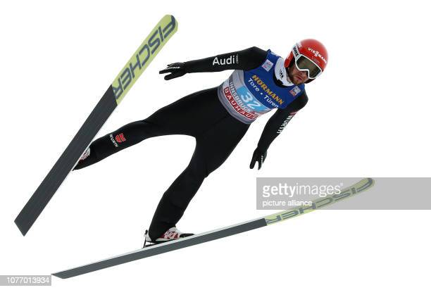 Nordic skiing / ski jumping World Cup Four Hills Tournament Großschanze Men Markus Eisenbichler from Germany in action during the rehearsal Photo...
