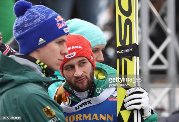 Nordic skiing / ski jumping World Cup Four Hills Tournament Großschanze Men 2nd round Markus Eisenbichler from Germany and Andreas Wellinger from...