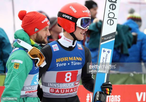 Nordic skiing / ski jumping World Cup Four Hills Tournament Großschanze Men 2nd round Markus Eisenbichler from Germany and Stephan Leyhe from Germany...