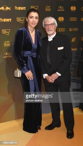 January 2019, Austria, Kitzbühel: Former Formula 1 boss Bernie Ecclestone and his wife Fabiana Ecclestone come to the Kitz Race Party. Traditionally...