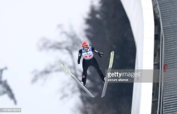 01 January 2019 Bavaria GarmischPartenkirchen Ski jumping Four Hills Tournament Big Hills Gentlemen Markus Eisenbichler ski jumper from Germany jumps...