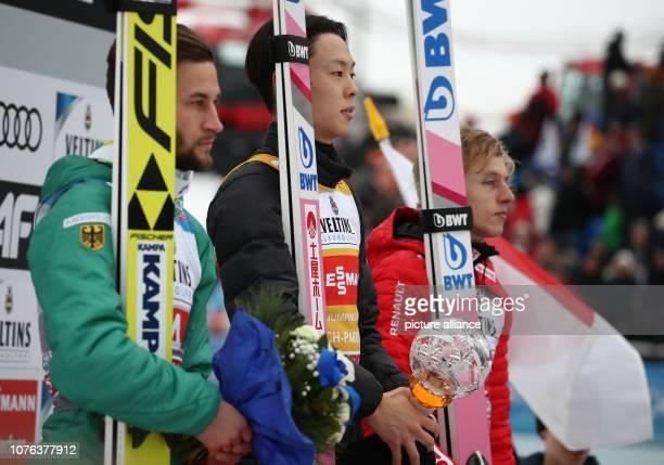 01 January 2019 Bavaria GarmischPartenkirchen Ski jumping Four Hills Tournament Big Hills Gentlemen Second placed Markus Eisenbichler from Germany...