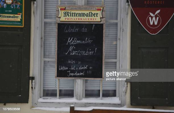 Back again Mittenwalder Märzenbier is written on a sign near the village shop which has again been supplied with fresh food The state road to...