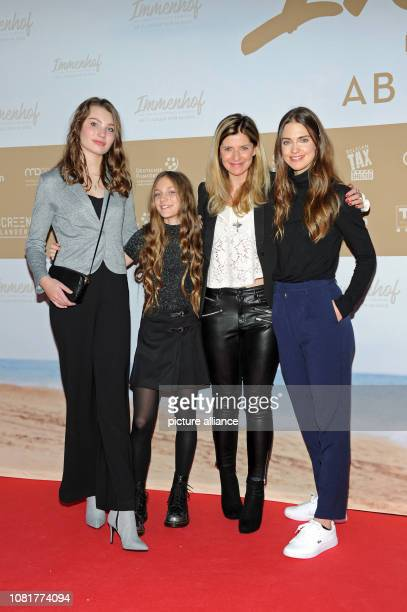 The actors Leia Holtwick Ella Päffgen director Sharon von Wietersheim and the actress Laura Berlin will premiere their film Immenhof The Adventure of...