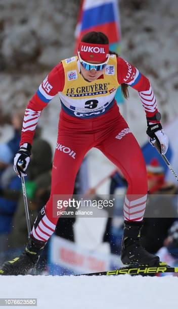 Nordic skiing / crosscountry skiing World Cup Tour de Ski 10 km classic pursuit ladies Julia Belorukova from Russia in action Photo KarlJosef...