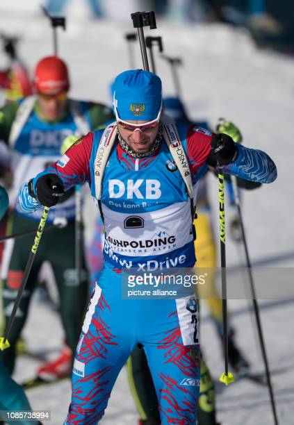 Biathlon World Cup 15 km mass start of the men in the Chiemgau Arena Alexander Loginov from Russia on the track Photo Sven Hoppe/dpa