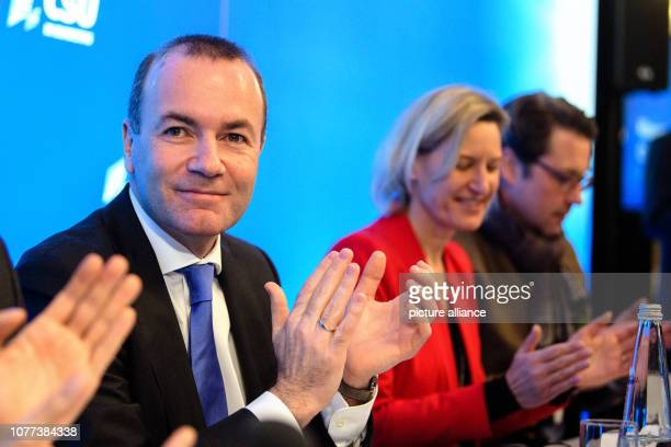 Manfred Weber top candidate of the European People's Party for the European elections Angelika Niebler chairwoman of the CSU European Parliament...