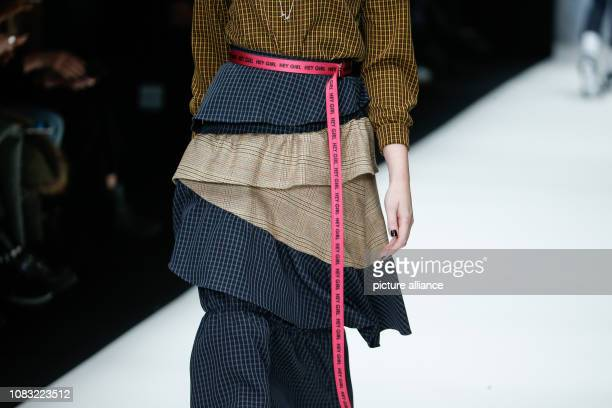 A model presents the fashion of the designer Rebekka Ruetz in the EWerk At the Berlin Fashion Week the collections for autumn/winter 2019/2020 Photo...