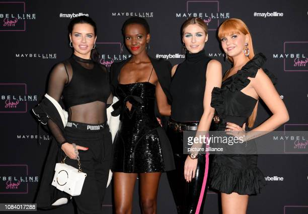 Adriana Lima Herieth Paul Lena Gercke and Bonnie Strange come to the show of the cosmetics company Maybelline The collections for Autumn/Winter...