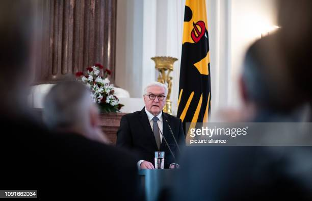 After receiving the 'Gift of Remembrance' Federal President FrankWalter Steinmeier will speak for his commitment against rightwing extremism and...
