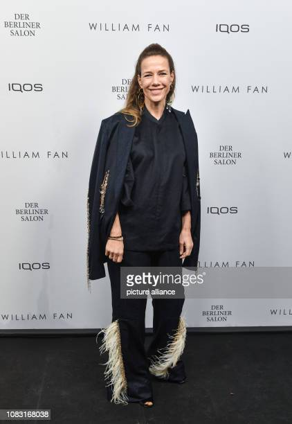 Alexandra Neldel comes as a guest to the fashion show of the label William Fan in the bar Knutschfleck The collections for Autumn/Winter 2019/2020...