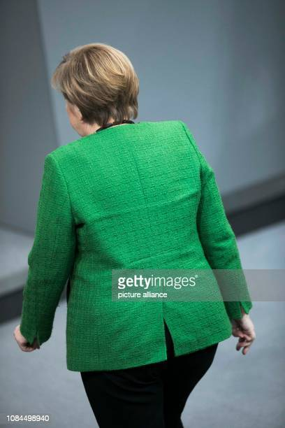 Chancellor Angela Merkel is leaving the plenary session of the German Bundestag The main topics of the 74th session of the 19th legislative period...
