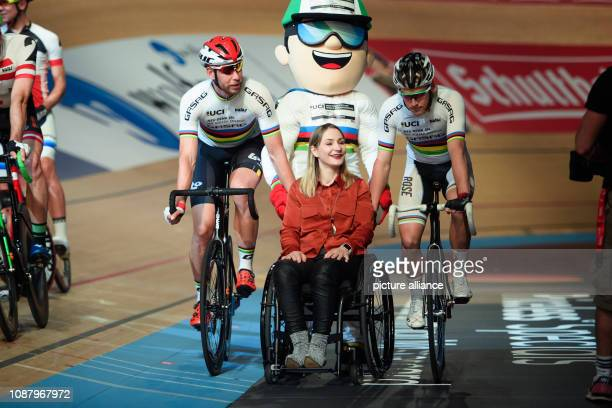 Cycling 108th Berlin SixDay Race Kristina Vogel twotime Olympic champion in track cycling opens the twoman team cycling competition Next to her are...