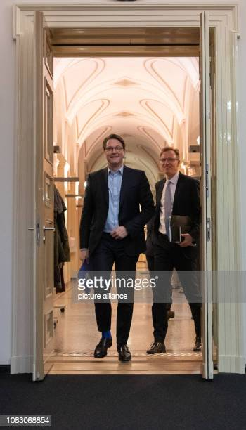 Federal Transport Minister Andreas Scheuer is coming to a press breakfast Previously Scheuer had met with head of railways Lutz and federal...