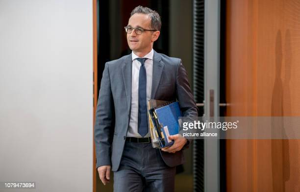 Heiko Maas Foreign Minister comes to the Federal Cabinet meeting at the Chancellery On the agenda are among other things the bill to strengthen...