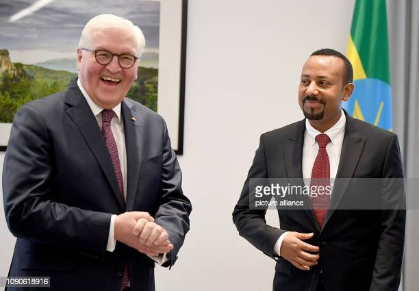 President FrankWalter Steinmeier talks to Abiy Ahmed Ali Prime Minister of the Democratic Federal Republic of Ethiopia The Federal President visits...