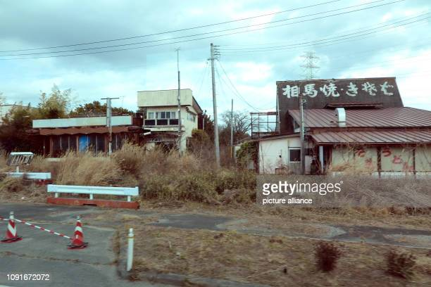 Abandoned houses in the town of Okuma Machi still declared a restricted zone where the Fukushima nuclear power plant is located Nobody can come back...