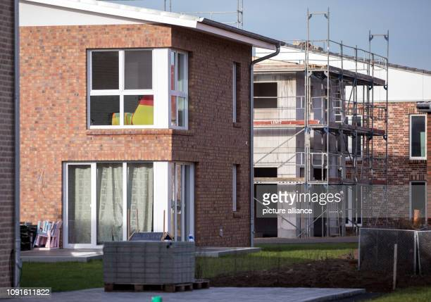 30 January 2019 MecklenburgWestern Pomerania Schwerin New singlefamily homes are being built in a new housing estate in the Friedrichsthal district...