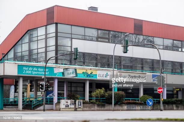 06 January 2019 North RhineWestphalia Gelsenkirchen The front and the main entrance of the central bath A fiveyearold girl drowned in the pool A...