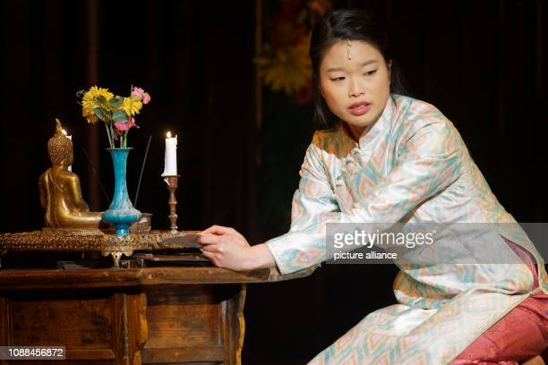 25 January 2019 North RhineWestphalia Köln The singer Sooha Kim performs on stage at a press event before the German premiere of the new production...