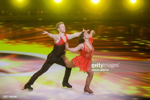 13 January 2019 North RhineWestphalia Köln Timur Bartels actor and Amani Fancy figure skater are on the live SAT1 show 'Dancing on Ice' on the ice...