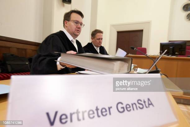 21 January 2019 RhinelandPalatinate Koblenz Attorney General Christopher do Paco Quesado and Attorney General Volker Blindert are preparing for the...