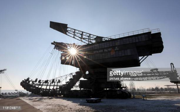 22 January 2019 SaxonyAnhalt Gräfenhainichen The crawler excavator 'Mosquito' is located in 'Ferropolis' the city made of iron A total of five large...