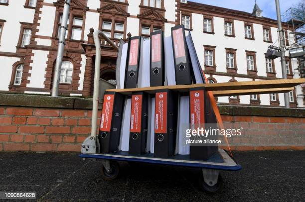 29 January 2019 SchleswigHolstein Kiel There's a car with files full of signatures in front of the Justice Department The parents of the 'Gorch Fock'...