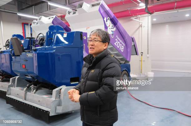 January 2019, South Korea, Gangneung: Choi Jong Won, the manager for the Gangneung ice hockey arena and other sports facilities for the 2018 Winter...