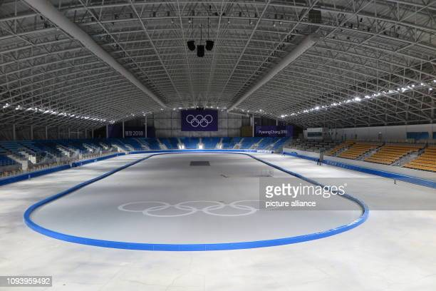 The speed skating arena of the 2018 Winter Olympics in Pyeongchang The sports arenas in the Olympic Park of Gangneung on the east coast of South...