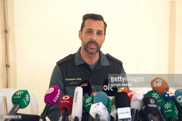 Jorge Martin spokesman for civil defence in Malaga speaks at a press conference about the case of the twoyearold Julen who is said to have fallen...