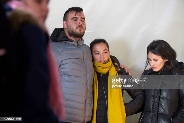 Jose Rosello and Vicky Garcia parents of the twoyearold Julen are at a meeting point with the media Julen is said to have fallen into a well shaft on...